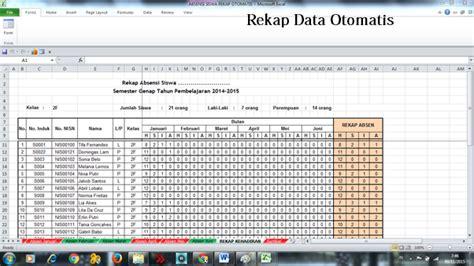download absensi siswa excel rekap otomatis aplikasi excel absensi siswa rekap data otomatis