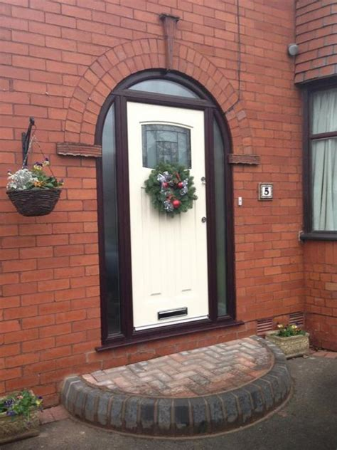 Arched Composite Front Doors Arched 1930 S Style Composite Front Door Front Door Front Doors Style And Doors