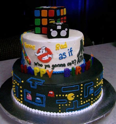 Saturday cute: I Love the 80s cake   FlickFilosopher.com