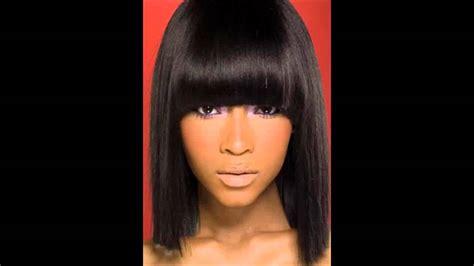 hairstyles bangs youtube african american long hairstyles with bangs side bangs