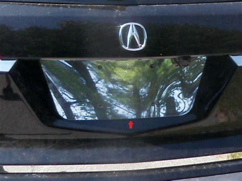 acura mdx 2008 accessories acura mdx chrome license plate bezel 2007 2008 2009