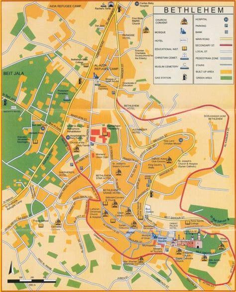 bethlehem jerusalem map bethlehem tourist map bethlehem israel mappery