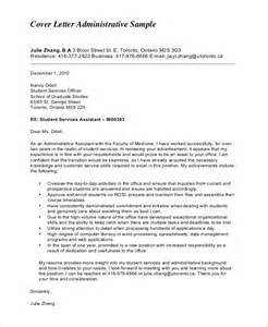 Exle Administrative Assistant Cover Letter by Exle Of Cover Letter 9 Sles In Word Pdf