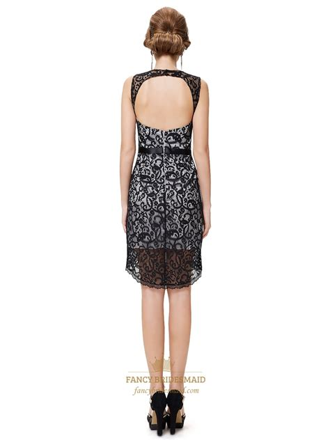 black and white lace dress with open back white and