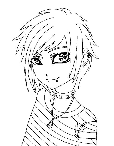 emo anime coloring pages coloring coloring pages