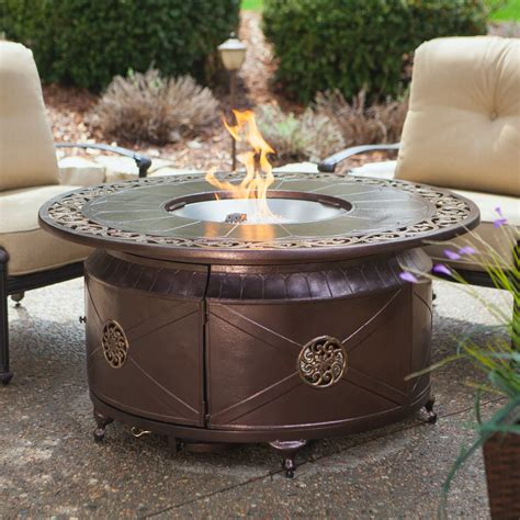 Have To Have It Red Ember Richland 48 In Round Propane Propane Outdoor Firepits