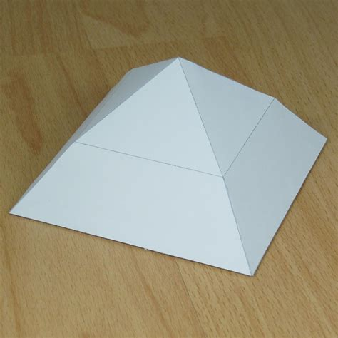 How To Make A Pyramid Out Of Paper Mache - how to make a pyramid out of paper 28 images project a
