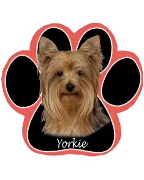 yorkie paw print yorkie terrier breed paw print mousepad 3d bookmark