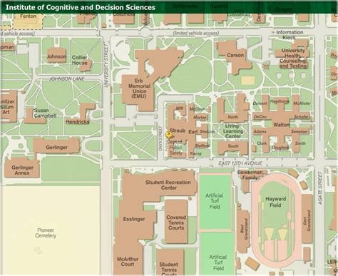 uoregon map contact us institute of cognitive and decision sciences