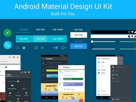 material design app kit android material design psd uplabs