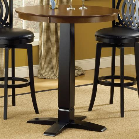 Bar Bistro Table Dynamic Design Wood Bistro Pub Table In Brown Cherry Black Humble Abode