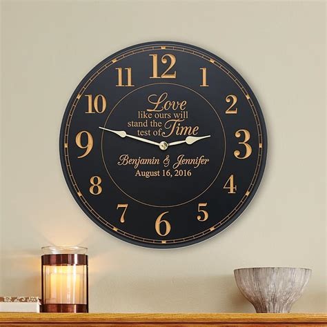 Wedding Anniversary Clocks by Personalized Anniversary Gifts At Personal Creations