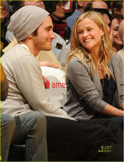 So Are Reese Witherspoon And Jake Gyllenhaal Going Out by Reese Jake Let S Go Lakers Photo 1629851 Jake