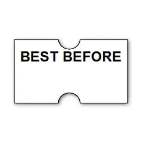 the best before date registry ct1 22x12mm punch hole printed best before label 15k 15