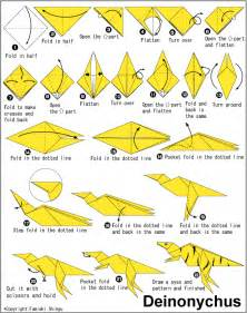 How To Make A Origami Dinosaur - origami
