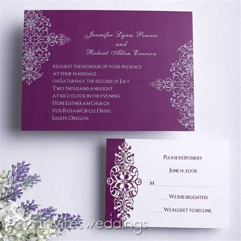 Purple Wedding Invitations by Summer Wedding Invitations Cheap Invites At
