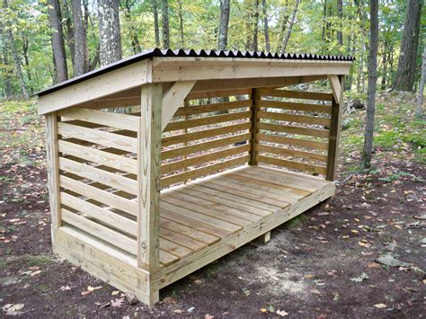 Wood Storage Shelter