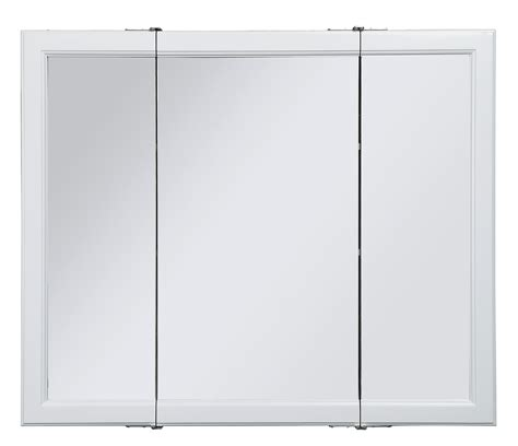 3 Door Medicine Cabinet by Design House 545129 Wyndham White Semi Gloss Tri View