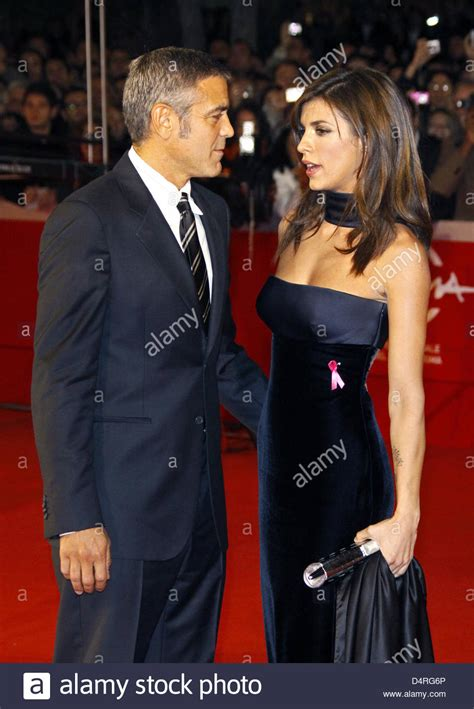 us actor george us actor george clooney l and italian actress elisabetta