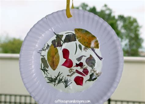 suncatcher craft nature suncatcher craft for coffee cups and crayons