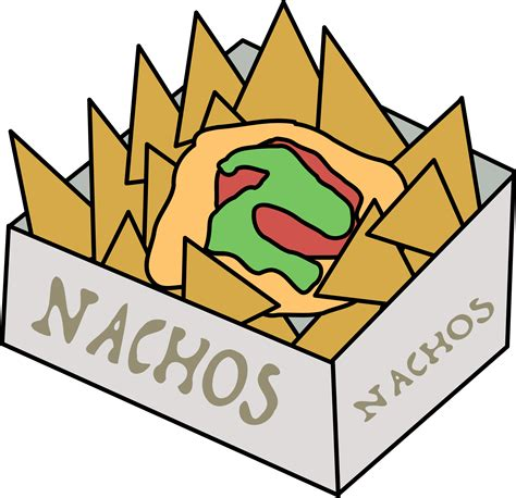 free vector clipart images box of nachos vector clipart image free stock photo
