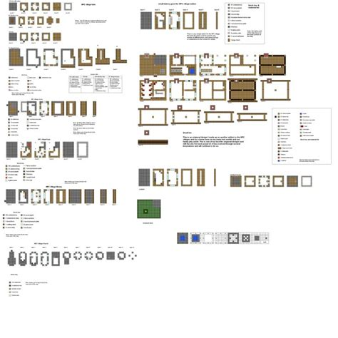 minecraft building floor plans fortified village buildings pt1 by coltcoyote deviantart