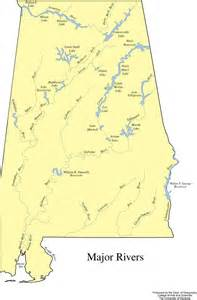 major rivers of map alabama geography from netstate