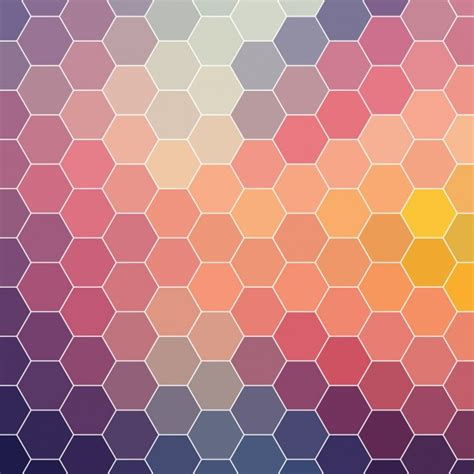 vector pattern background psd coloured background made of hexagonal shapes vector free
