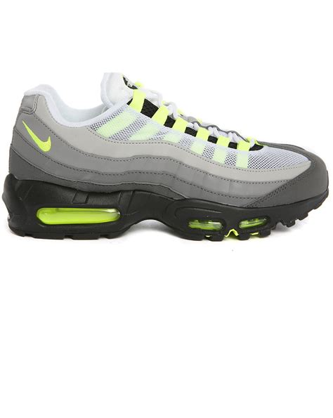 neon sneakers nike nike air max 95 og neon sneakers in white for lyst