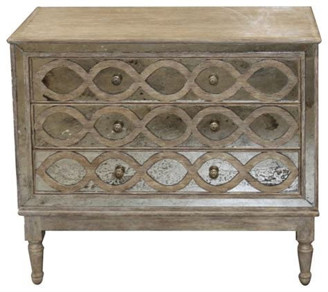 ogee country distressed antique mirror dresser
