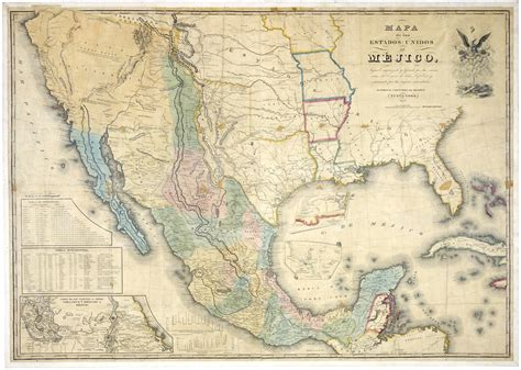 map united states and mexico map of the united states of mexico c 1847