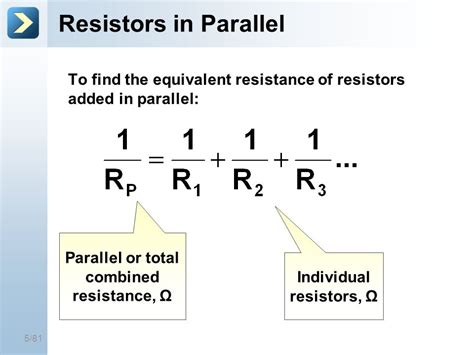 formula for parallel resistors 25 mar 17 circuit exles title of the course ppt