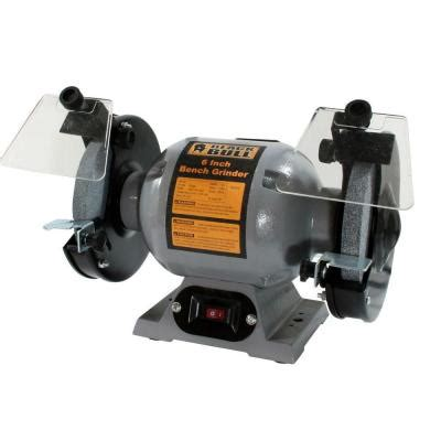black bull bench grinder black bull 120 volt 6 in heavy duty bench grinder 800319