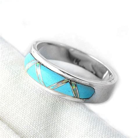 turquoise opal turquoise rings turquoise opal in silver ring the