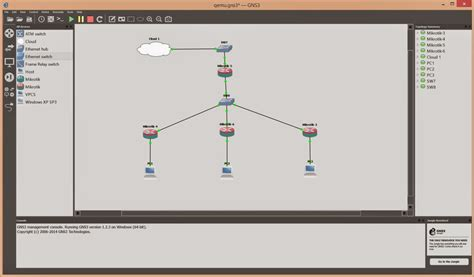 membuat jaringan lan menggunakan mikrotik belajar mikrotik tanpa routerboard menggunakan gns3