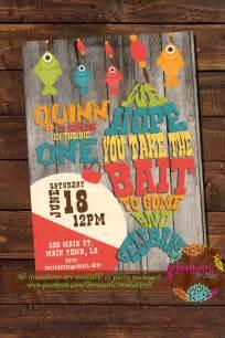 fishing birthday party invitation fish camping fishing