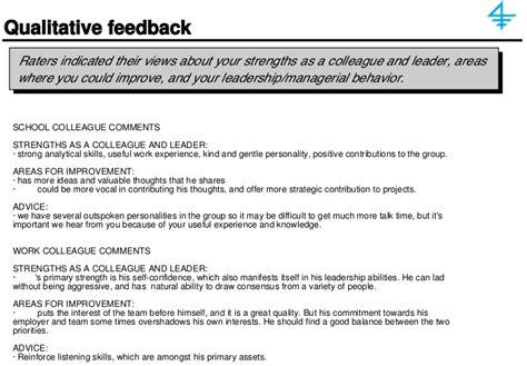 sle 360 feedback report a sle 360 degree feedback report qualitative feedback