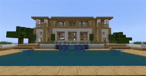 how to make a house a home bee builds sandstone modern house minecraft project