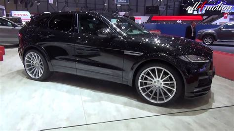 jaguar f pace black hamann jaguar f pace all black geneva autoshow youtube