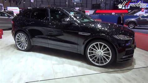jaguar f pace blacked out hamann jaguar f pace all black geneva autoshow youtube