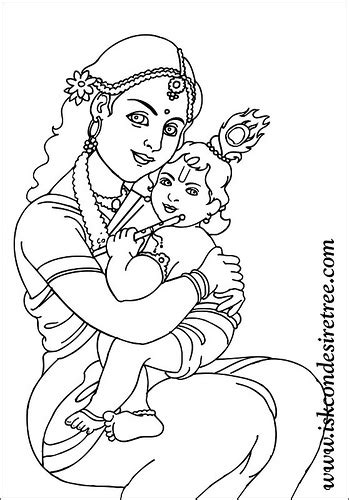 coloring pages of baby krishna colouring krishna poster iskcon desire tree 077 this
