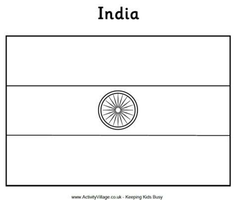 coloring page of india flag india flag coloring page india culture pinterest