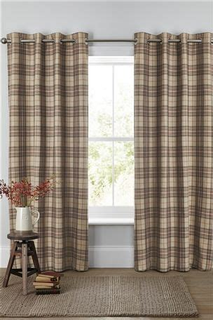 living room curtains next buy archie woven check eyelet curtains from the next uk