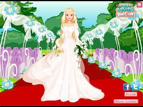 barbie wedding day game barbie dress up game youtube