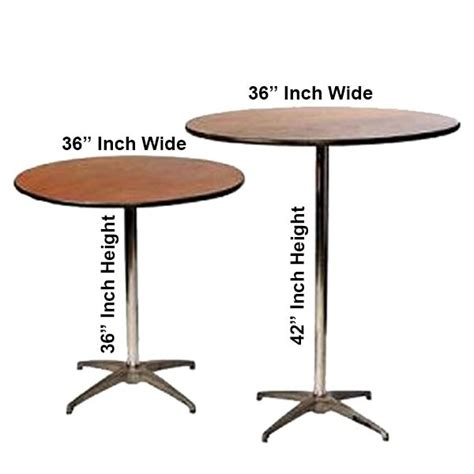 36 Inch High Top Table Rentals In Miami