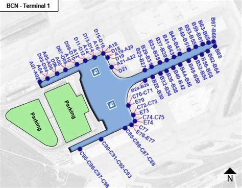 Narita Airport Floor Plan Barcelona Airport Bcn Terminal 1 Map