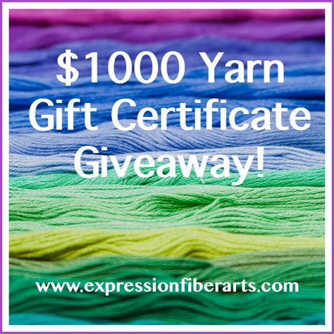 Gift Certificate Giveaway - expression fiber arts a positive twist on yarn 1000 yarn gift certificate giveaway
