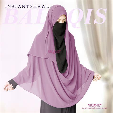 Shafeeya Pashmina Virly Dusty Purple instant shawl balqis dusty purple niqavie