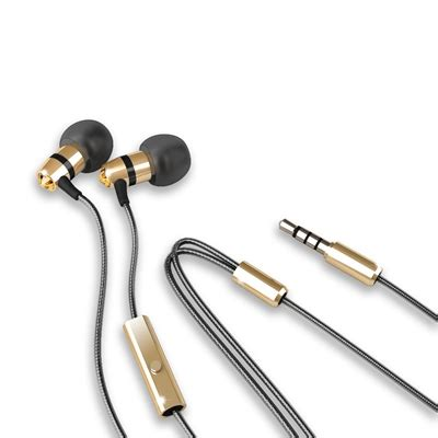 meelectronics in ear headphones with microphone made with swarovski m11j golden