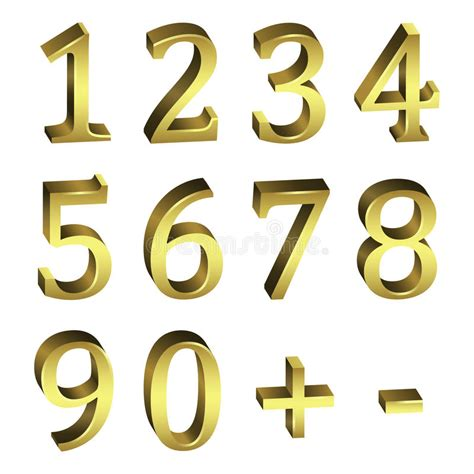 eps number format golden numbers stock vector illustration of expensive